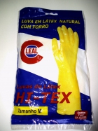 LUVA EM LATEX NATURAL COM FORRO